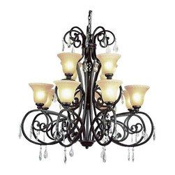 Trans Globe Lighting - Trans Globe Lighting 9932 DBZ Chandelier In Dark Bronze - Part Number: 9932 DBZ