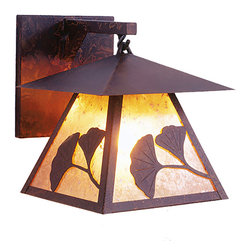Steel Partners Inc - Hanging Sconce - GINGKO PRAIRIE - Every piece we create is unique — handcrafted at our factory in Chehalis, Washington, USA. Due to this, lead times are 2 to 4 weeks.