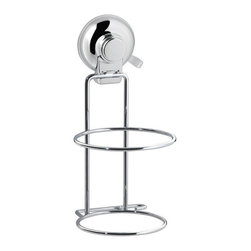 Gedy - Suction Cup Chrome Hair Dryer Holder - Add this decorative, contemporary hair dryer holder to your already modern & contemporary master bathroom.