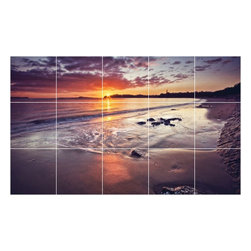 Picture-Tiles, LLC - Sunset Picture Kitchen Bathroom Ceramic Tile Mural  18 x 30 - * Sunset Picture Kitchen Bathroom Ceramic Tile Mural 1878