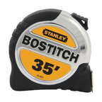 """Stanley Tools - 33003X 35 Ft. Bi-Metal Tape Measure - BOSTITCH H-D TAPE RULES  1-1/4"""" width & 13 ft. Standout tape rule  150% larger end hook allows top & side grab  Mylar(R) with bladearmor(TM) blade coating -  helps to increase product life  airlock(TM) rubber slide lock  Bi-material case for durability & comfort  High visibility blade with large, easy-  to-read graphics    33003X 35 FT. BI-MTL TAPE MEASURE  SIZE:1-1/4"""" x 35 Ft."""