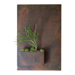 Potted - Vertical City Planter - Wall planters as art. City Planters add an intriguing dimension to vertical gardening. Hang several on a wall for dramatic impact, or let them stand alone.