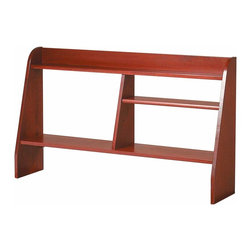 Renovators Supply - Computer Desks Cherry Stain Hardwood Computer Shelf 44'' W | 151120 - Executive Computer Shelf. Made of solid HARDWOOD with a cherry stain finish. This shelf coordinates with desk and printer stand- sold separately see below. Top and bottom shelves are stationary. The middle shelf adjusts to 3 heights and can be moved to either left or right side or can even be removed completely. The shelf overall measures 26 in. high x 44 1/2 in. wide x 10 in. proj.