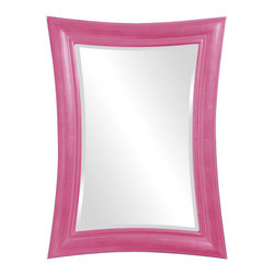 Howard Elliott - Howard Elliott Fairmont Glossy Hot Pink Mirror - Fairmont glossy hot pink mirror