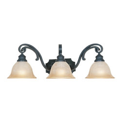 Designers Fountain - Designers Fountain Barcelona Bathroom Lighting Fixture in Natural Iron - Shown in picture: Barcelona Bathroom Light in Natural Iron finish