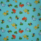 "SheetWorld - SheetWorld Fitted Oval Crib Sheet (Stokke Sleepi) - Safari Animals Aqua - This 100% cotton ""flannel"" oval crib (stokke sleepi) sheet is made of the highest quality fabric that's ""double napped"". That means these sheets are the softest and most durable. Sheets are made with deep pockets and are elasticized around the entire edge which prevents it from slipping off the mattress, thereby keeping your baby safe. These sheets are so durable that they will last all through your baby's growing years. We're called sheetworld because we produce the highest grade sheets on the market today. Features the cutest safari animals. Size: 26 x 47."