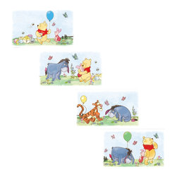 York Wallcoverings - Disney Winnie Pooh Friends Wall Accent Mini Wall Panels - FEATURES: