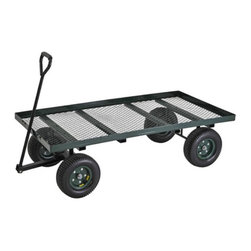 Sandusky Lee - Sandusky Lee Heavy Duty Flat Nursery Cart Multicolor - FW3820 - Shop for Carts and Wheelbarrows from Hayneedle.com! The Sandusky Heavy Duty Flat Nursery Cart makes it easy to transport plants and supplies wherever they need to go. It features a taller lip so your equipment won't slide off has an easy draining powder-coated steel mesh bed that is durable and rust-resistant plus an auto-steering device that helps maintain tire position for balance and comfort.About Sandusky Cabinets and Lee MetalSandusky Cabinets and Lee Metal have been major suppliers of steel storage solutions for nearly 70 years. Their diverse product line is tailored to the specific needs of office commercial industrial and educational markets while ensuring low logistics costs and fast delivery times which means the products are handled a minimal number of times in transit.Please note this product does not ship to Pennsylvania.
