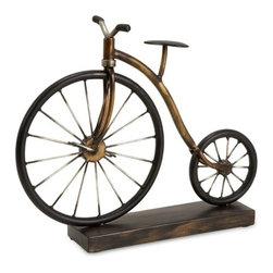 IMAX CORPORATION - Big Wheel Bicycle Statuary - The antique charm of the Big Wheel Bicycle Statuary will add an interesting look to any space in your home. Whether you're looking to add an accent to your living room, home office or somewhere else, this piece will create the antiquarian look you want. Find home furnishings, decor, and accessories from Posh Urban Furnishings. Beautiful, stylish furniture and decor that will brighten your home instantly. Shop modern, traditional, vintage, and world designs.