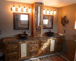 Reclaimed wood & aspen vanity -
