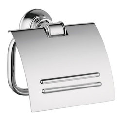 Hansgrohe - Hansgrohe Axor Montreux Toilet Paper Holder with Cover, Chrome (42036000) - Hansgrohe 42036000 Axor Montreux Toilet Paper Holder with Cover, Chrome