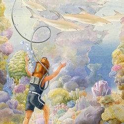 Magic Murals - Four Sharks Wallpaper Wall Mural - Self-Adhesive - Multiple Sizes - Magic Murals - Four Sharks Wall Mural
