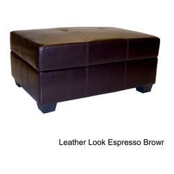 EpicFurnishings - Vanderbilt Leather Look Storage Ottoman - The addition of a black storage ottoman to your home offers a sophisticated look and practicality. The piece by Vanderbilt is covered in a microfiber suede, which is comfortable and easy to clean, and the top lifts to reveal a large storage area.