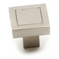 Richelieu Hardware - Richelieu Contemporary Metal Square Knob 18mm Nickel - Richelieu Contemporary Metal Square Knob 18mm Nickel