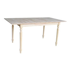 International Concepts - International Concepts Unfinished Turned Leg Dining Table - International Concepts - Dining Tables - KT32X330T