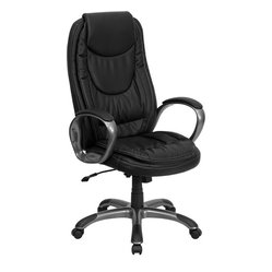 High Back Black Leather Executive Swivel Chair The High