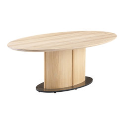 Skovby - High Rise Coffee Table - Here's a big idea for your small space: A coffee table that turns to dining table with the push of a button. As easy to use as it is on the eyes, this is two chic tables in one.