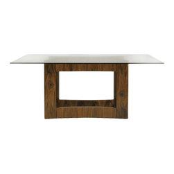 Aquarius - Aquarius Domain Rectangular Glass Dining Table in Walnut Finish - Aquarius - Dining Tables - 014211402C - About the Aquarius Collection: