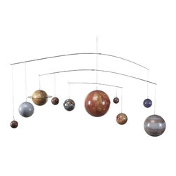 "Authentic Models - AM Solar System Mobile - This Solar System Mobile can make a wonderful addition to any room that will delight everyone young and old alike. It has nine detailed, colorful planets that follow their actual orbit paths as they spin independently of one another. The mobile is sturdy and durable which is constructed out of stainless steel. Dimensions: 54""W x 17""H x 7""D."