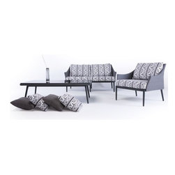 Patio Loveseat and Lounge Chair - Patio loveseat and lounge chair set.