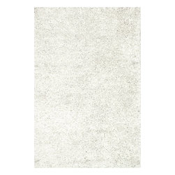 Loloi Rugs - Loloi Rugs SELMSZ-01WH003656 Selma Shag White Transitional Hand Woven Rug - The foundation to a well designed and comfortable room starts with Selma Shag. From India, each rug is hand woven of 100% polyester fabrics that come in rich, eye-catching colors. Best of all is the texture - the polyester fabrics are ruffled with small but impactful ridges in each piece, creating an intriguing look and feel that makes our Selma Shag a stylish statement in any room.