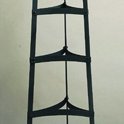 """60½"""" Six Shelf Graphite Cookware Stand, RTA - Graphite Six Shelf Cookware Stand. This versatile stand has six shelves to hold pots, pans, plants or anything else you need to keep organized yet accessible. Made of Heavy Gauge Steel, the graphite finish is lacquered for easy maintenance. Assembly required. 60½""""H"""