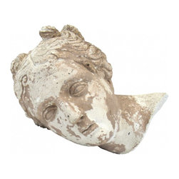 Athena Statue Head - Concrete statue head of Athena makes a great display piece for tables and bookshelves! I think it was the head of a concrete statue and was broken off the body.