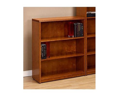 Office Star - Three-Shelf Home/Office Bookcase in Wood - Ke - Color: MahoganyMade of Wood. Kenwood Features Fluted Hardwood Edge Design and Select Hardwood Veneers. Each is Book Matched and Assembled in Traditional Fashion to Develop the Natural Grain Character. Complementing this Careful Craftsmanship is a Warm Light Cherry or Rich. Pictured in Light Cherry. Some assembly required. 36 in. W x 14 in. L x 42 in. H
