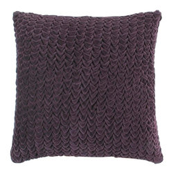 """Surya - Surya P0124-1818D Pillow - This textural pillow offers a unique design to any space. The color plum accents this decorative pillow. This pillow contains a poly fill and a zipper closure. Add this 18"""" x 18"""" pillow to your collection today."""