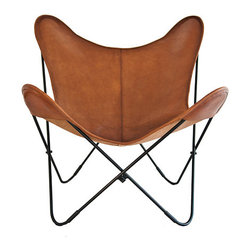 "Original- ""Vaqueta London"" Butterfly chair Big BKF leather chair models - Vaqueta London"