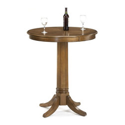 Hillsdale Furniture - Warrington Bar Height Table - For residential use. Rich Cherry finish. 36 in. Dia. x 42 in. H