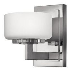 Hinkley Lighting - Ashbury Single Sconce - Deep bowls of Etched Opal glass complement the solid lines of the Chrome frame creating a stunning fixture. Comes in Chrome finish. Takes 1 60-watt G9 Halogen bulb (included).