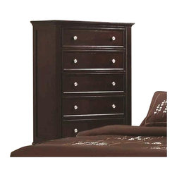 Coaster - Coaster Sandy Beach 5 Drawer Chest in Cappuccino Finish - Coaster - Chests - 201995