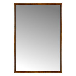 """Posters 2 Prints, LLC - 53"""" x 76"""" Belmont Light Brown Custom Framed Mirror - 53"""" x 76"""" Custom Framed Mirror made by Posters 2 Prints. Standard glass with unrivaled selection of crafted mirror frames.  Protected with category II safety backing to keep glass fragments together should the mirror be accidentally broken.  Safe arrival guaranteed.  Made in the United States of America"""