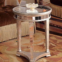 """Amelie"" Mirrored End Table - Horchow"