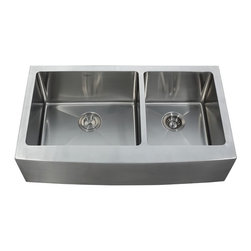 """Kraus KHF203-36 36 inch Farmhouse 70/30 Double 16 gauge Stainless Steel Sink - APPLY COUPON CODE """"EDHOUZ50"""" AT CHECKOUT. JUST OUR WAY OF SAYING THANKS."""