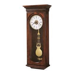 Howard Miller - Howard Miller Key Wound Chiming Grandfather Wall Clock in Cherry | EARNEST - 620433 Earnest