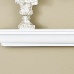 Madison Fireplace Mantel Shelf - Available in standard or customizable sizes with a host of wood finishes, the Madison Mantel Shelf's crisp, clean-cut finish will effortlessly complete your fireplace. -Mantels Direct