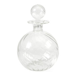 Vivian Borosilicate Glass Decanter with Stopper - *Exquisite design and beautiful round shape define the Vivian Borosilicate glass decanter with a globe shaped stopper.
