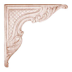 Superior Moulding of Nevada - 695 Embossed Wood Applique - Decorative wood onlays and appliques, are decorative ornaments useful for bringing visual interest to flat areas. Embossed wood onlays and appliques are often used to decorate fireplace mantels, stove or range hoods and cabinetry headers.