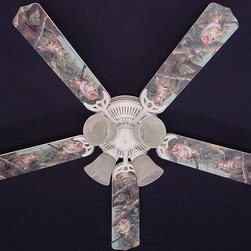 Ceiling Fan Designers - Ceiling Fan Designers Large Mouth Bass Fish Indoor Ceiling Fan - 42FAN-ANI-LMBF - Shop for Ceiling Fans and Components from Hayneedle.com! If the cabin or man cave is feeling stuffy call in the Ceiling Fan Designers Large Mouth Bass Fish Indoor Ceiling Fan. This baby is a ceiling fan and light kit combo with style you can appreciate. It comes in your choice of size: 42-inch with 4 blades or 52-inch with 5. The blades are reversible so you get the Large Mouth Bass design on one side and classic white on the other. It has a powerful yet quiet 120-volt 3-speed motor with easy switch for year-round comfort. The 42-inch fan includes a schoolhouse-style white glass shade and requires one 60-watt candelabra bulb (not included). The 52-inch fan has three alabaster glass shades and requires three 60-watt candelabra bulbs (included). Your ceiling fan includes a 15- to 30-year manufacturer's warranty (based on size). Practical and decorative -- your man cave is now complete!