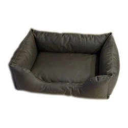 Carolina Pet Company - Brutus Tuff Kuddle Lounge, Olive, 26 X 19 X 8 - Super tough for pets that are rough on their beds.  1200 D Polyester fabric makes this the perfect bed for pets that like to scratch or chew.  Easy off zippered cover for easy care.  Machine washable.  100% recycled high loft Polyester fill keeps pets off cold floors for added comfort and relief on hips, joints and pressure points.