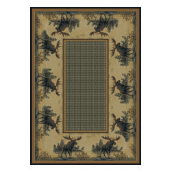 """United Weavers - Southwestern/Lodge Hautman 7'10""""x10'6"""" Rectangle Natural Area Rug - The Hautman area rug Collection offers an affordable assortment of Southwestern/Lodge stylings. Hautman features a blend of natural Natural color. Machine Made of Olefin the Hautman Collection is an intriguing compliment to any decor."""