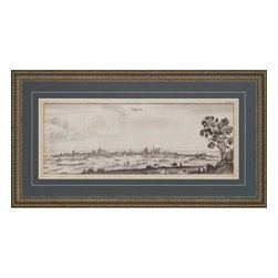 Paragon - View of Dijon - Framed Art - Each product is custom made upon order so there might be small variations from the picture displayed. No two pieces are exactly alike.