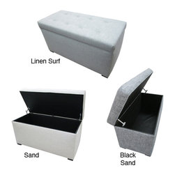 Sole Designs - Sole Designs Button Tufted Storage Trunk - Increase your storage and seating options with this practical fabric storage trunk from Sole designs. This gorgeous piece is available in black sand,linen surf or sand and features a tufted design that evokes elegance and sophistication.