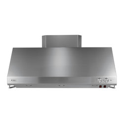 "GE Monogram 48"" professional straight-sided hood - The straight-sided range hood fits smoothly between cabinetry and also stands beautifully on its own as an attractive design of clean, simple lines."