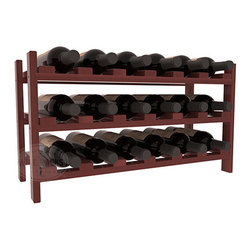 Wine Racks America - 18 Bottle Stackable Wine Rack in Premium Redwood, Cherry Stain + Satin Finish - Expansion to the next level! Stack these 18 bottle kits as high as the ceiling or place a single one on a counter top. Designed with emphasis on function and flexibility, these DIY wine racks are perfect for young collections and expert connoisseurs.