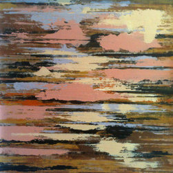 """""""Arizona"""" (Original) By Don Wunderlee - This Is One Of A Series Titled Layers Where I Experimented Using Squeegees And Wood To Apply The Paint"""