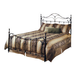 Hillsdale Furniture - Hillsdale Bennett Panel Bed - King - The Bennett bed is a surprising twist on a traditional style. With elongated finials a sweeping footboard and unique ornamentation, it's not your average old fashioned bed.