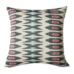 Petra Multicolored Ikat Pillow | Kufri Life Fabrics - Kufri Life Fabrics